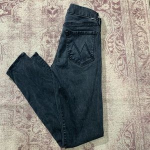 Mother The Looker Lies & Shadows Skinny Jeans 26